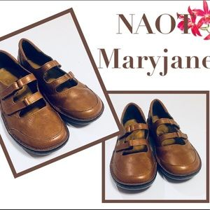 NAOT Maryjane Leather Double Strap Shoes